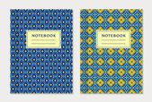 Notebook cover designs Vector set