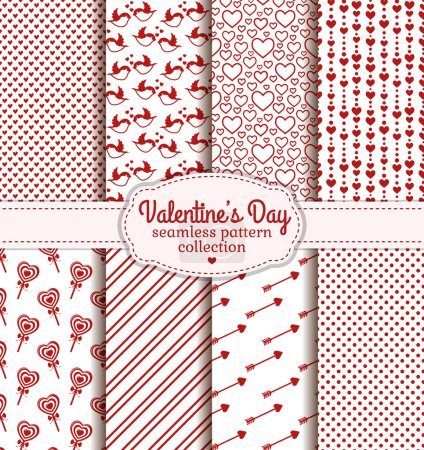 Happy Valentine's Day! Set of love and romantic seamless pattern