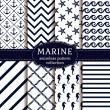 Sea and nautical backgrounds in white and dark blu...