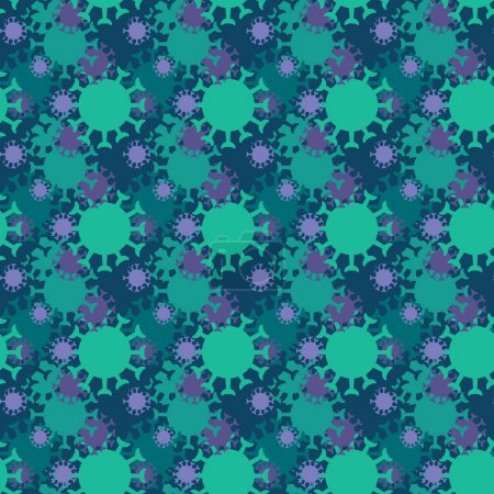 Illustration for Coronavirus icons pattern. Covid-19 virus seamless background. Seamless pattern vector illustration - Royalty Free Image