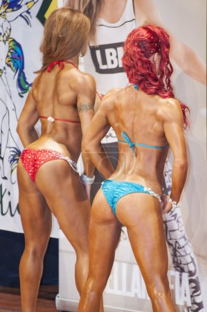 Schiedam, the Netherlands - april 26, 2015. 38th Dutch National Championship Bodybuilding and Fitness (IFBB Netherlands - NBBF)