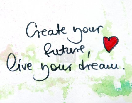 create your future,leave your dream