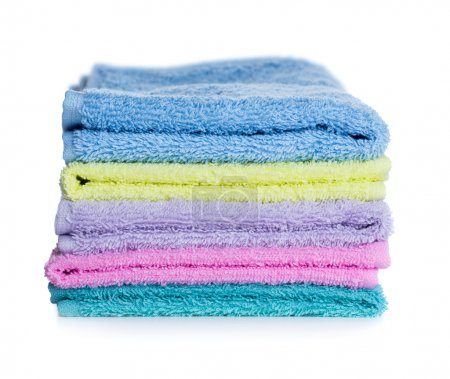 Pile of multicolored towels
