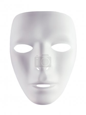 White mask for drama
