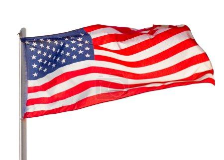 Close-up of flag USA