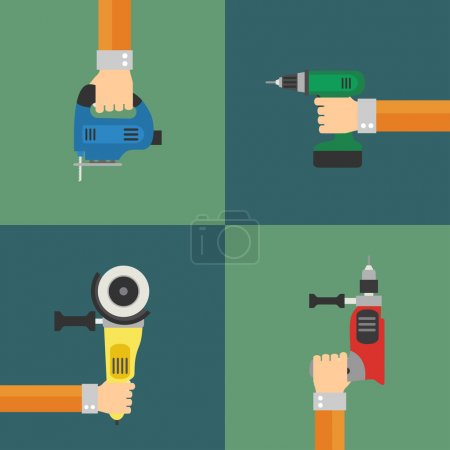 Power Tools vector, flat design style