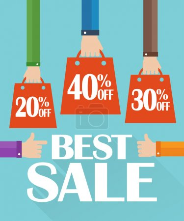 Flat design best sale, shopping bag