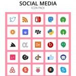 Set of 25 Social Logo hangouts, adobe, algolia, di...