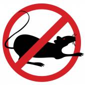 No rat sign for exterminating purposes