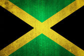 National flag of Jamaica. Grungy effect.