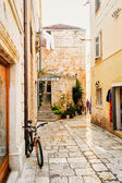 The narrow stone streets on the island of Hvar attract tourists