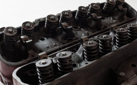 Opened old engine heads