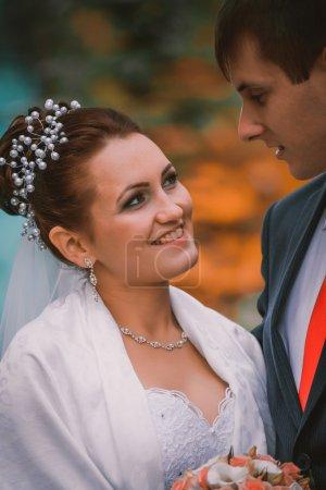 young family, wedding, newlyweds