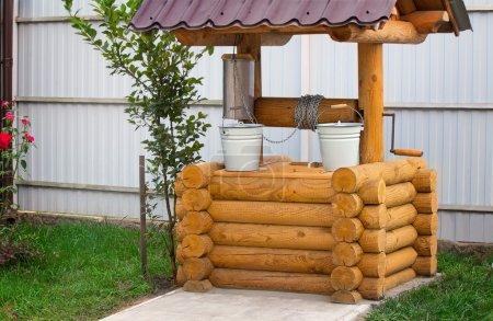 Photo pour Belle kolody en bois bien planifié avec des seaux . - image libre de droit