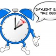 Постер, плакат: Alarm clock change to daylight saving time