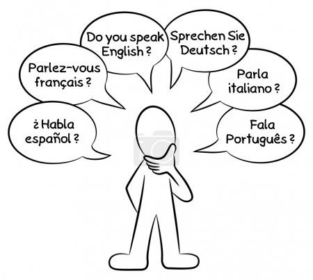 man who wants to know what languages you speak