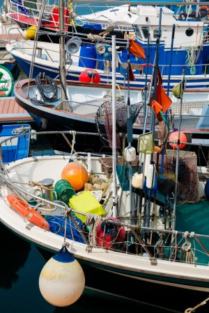 Fishing boats stranded at the port