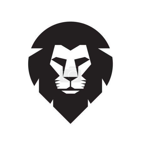Lion head - vector sign concept illustration. Lion head logo. Wild lion head graphic illustration. Wildecat logo sign. Pride of lion logo sign. Design element.