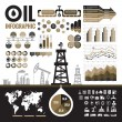 Oil industry - vector infographic elements for pre...
