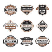 Vector graphic badges collection Original vintage badges Creative logo vector set Vector retro labels collection Design elements
