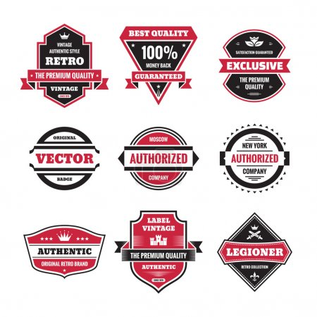 Vector graphic badges collection. Original vintage badges. Creative logo vector set. Vector retro labels collection. Design elements.