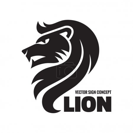Illustration for Animal lion - vector logo concept illustration. Lion head sign illustration. Vector logo template. Design element. - Royalty Free Image