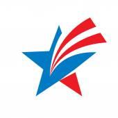 Star - vector logo concept illustration Star sign Star symbol USA star sign Vector logo template Design element