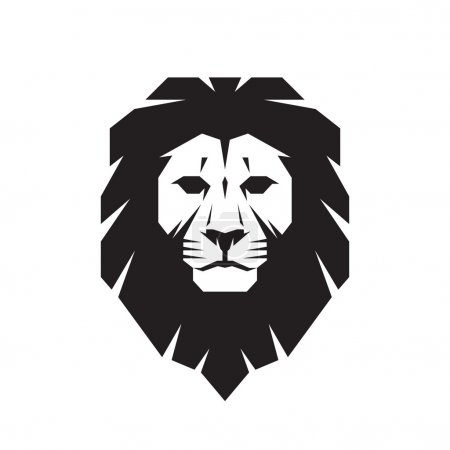 Illustration for Lion head - vector sign concept illustration. Lion head logo. Wild lion head graphic illustration. Design element. - Royalty Free Image
