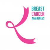 19 October - International Day of Breast Cancer - creative vector sign Silhouette of a woman's breasts Breast cancer awareness Hope for a cure I am supporting Pink ribbon sign