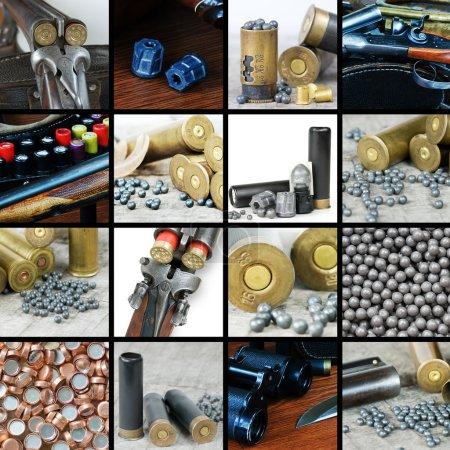 Photo pour A large set of images of hunting ammunition - image libre de droit