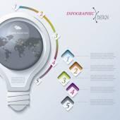Abstraktní ilustrace infographic šablony lze použít pro web d