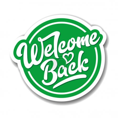Fun sign on the front door - welcome back! We are open after quarantine over. Back to school. Vector