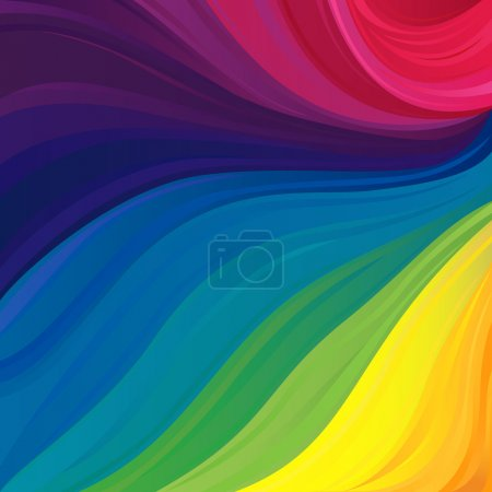 Illustration for Abstract variegated pattern with all primary colors of the visible spectrum and their hues, vector illustration - Royalty Free Image