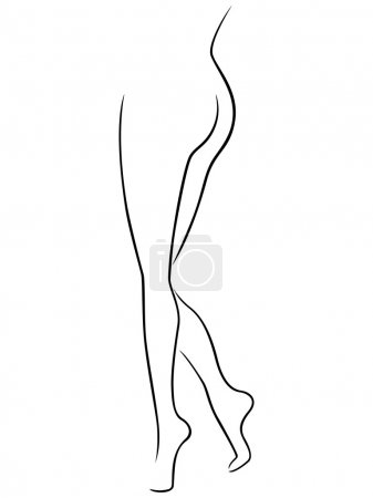 Lower part of graceful female body