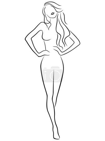 Abstract slender girl
