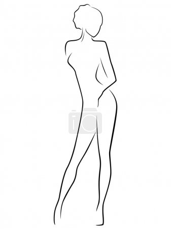 Abstract slim female body