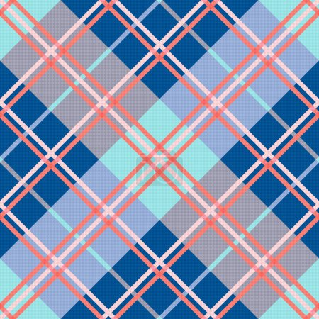 Diagonal seamless pattern in blue and pink