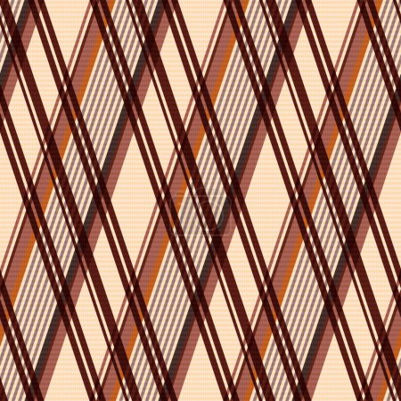 Rhombic seamless pattern in beige and brown