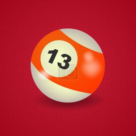 American billiard ball number 13