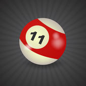 American billiard ball number 11