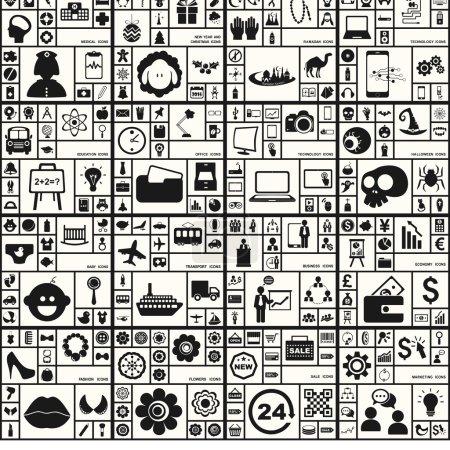 collection unique et individuelle des thèmes d'icônes