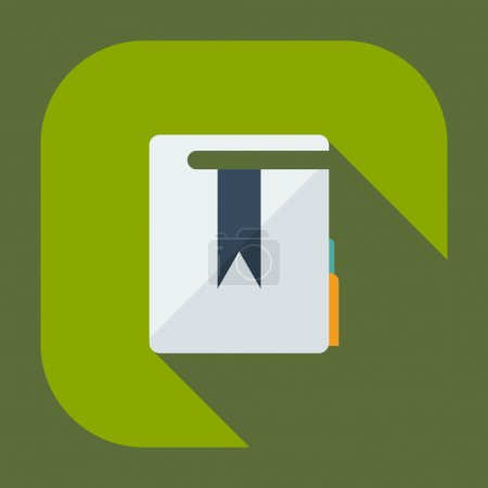 Flat modern design with shadow icons folder decree...