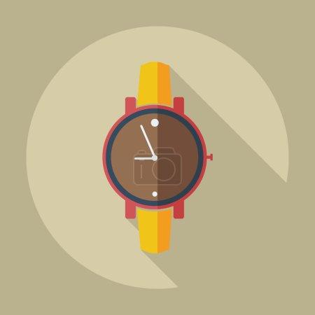 Flat modern design with shadow icons Wrist Watch...