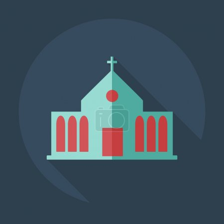 Flat modern design with shadow icons church