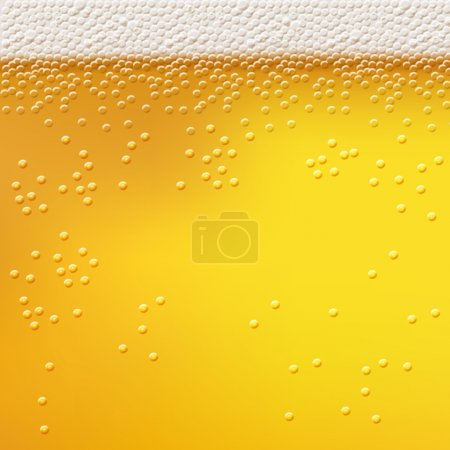 Illustration for Beer foam background, horizontal seamless beer pattern. Light bright, bubble and liquid, vector illustration - Royalty Free Image