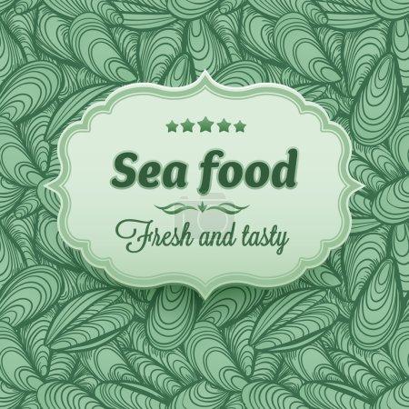 Sea food label on Sea Shells