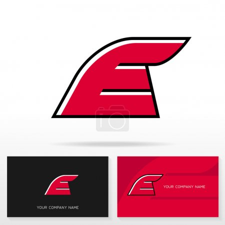 Letter E logo icon design template elements.