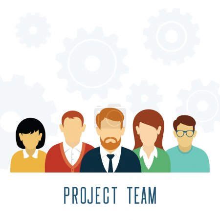 Vector Teamwork Gears Concept.