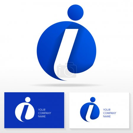 Letter I logo icon design - vector sign. Business card templates