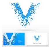 Letter V logo icon design template elements - Vector Illustration